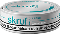 Skruf Super Slim Fresh White