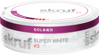 Skruf Super White Slim Solbaer #3